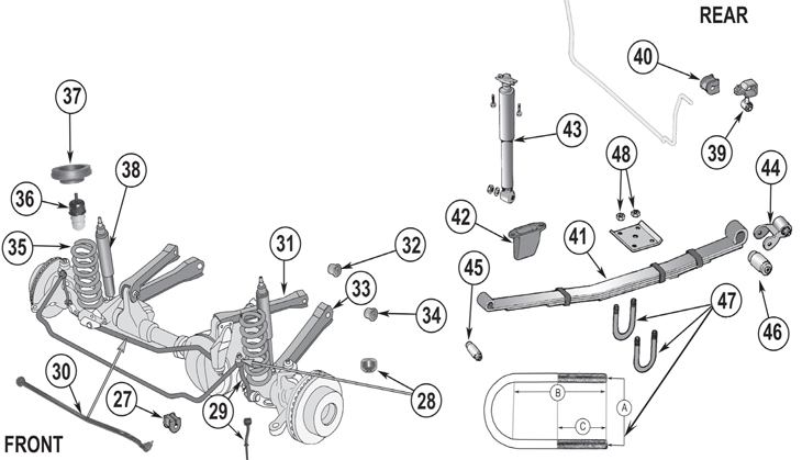 lexus gx470 rear suspension diagram